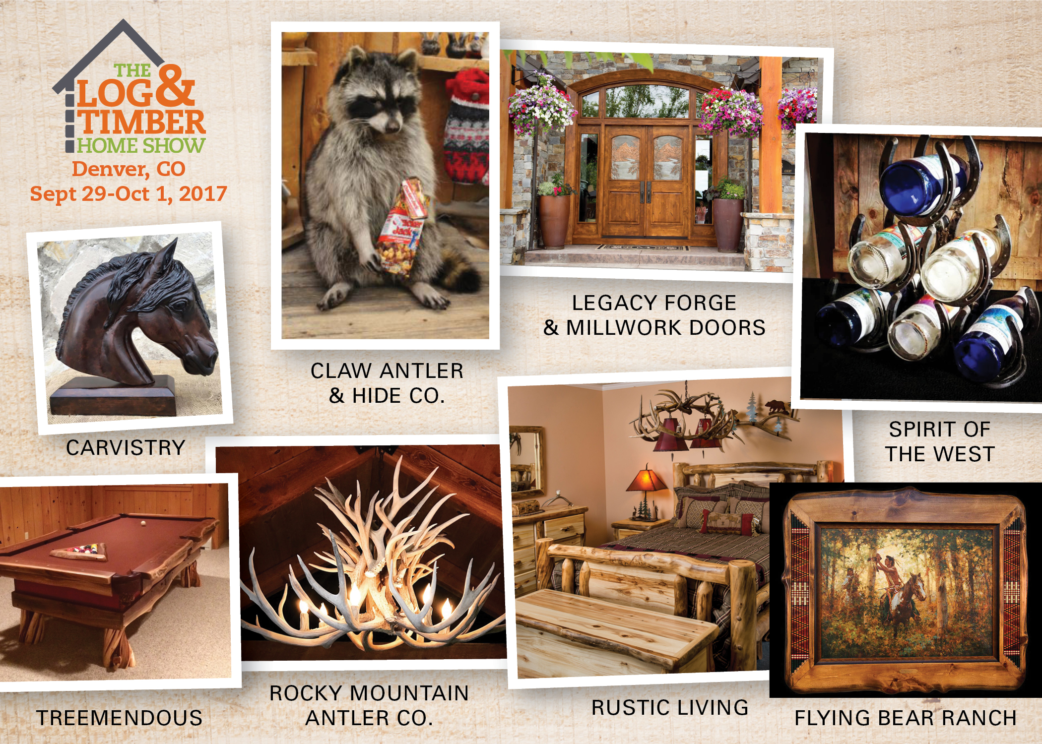 Denver CO | Log & Rustic Furniture Corner | Sept 29-Oct 1, 2017 | The Log & Timber Home Show