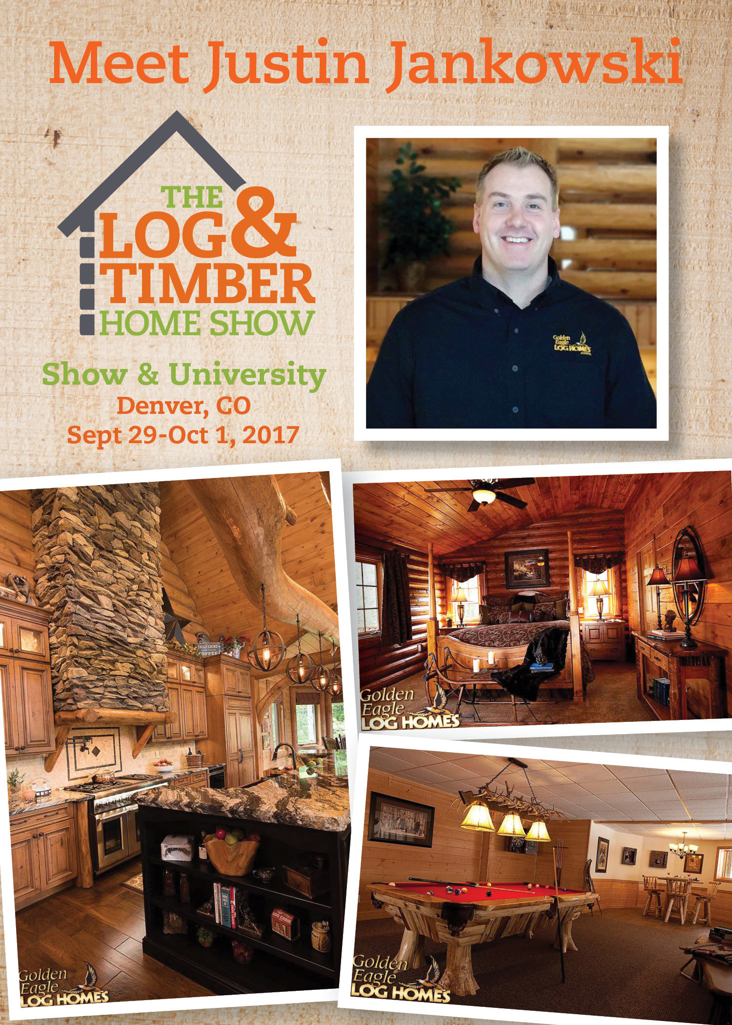 Denver, CO 2017 Log & Timber Home Show | Sept 30-Oct 1, 2017 | Golden Eagle Log Homes | Workshop
