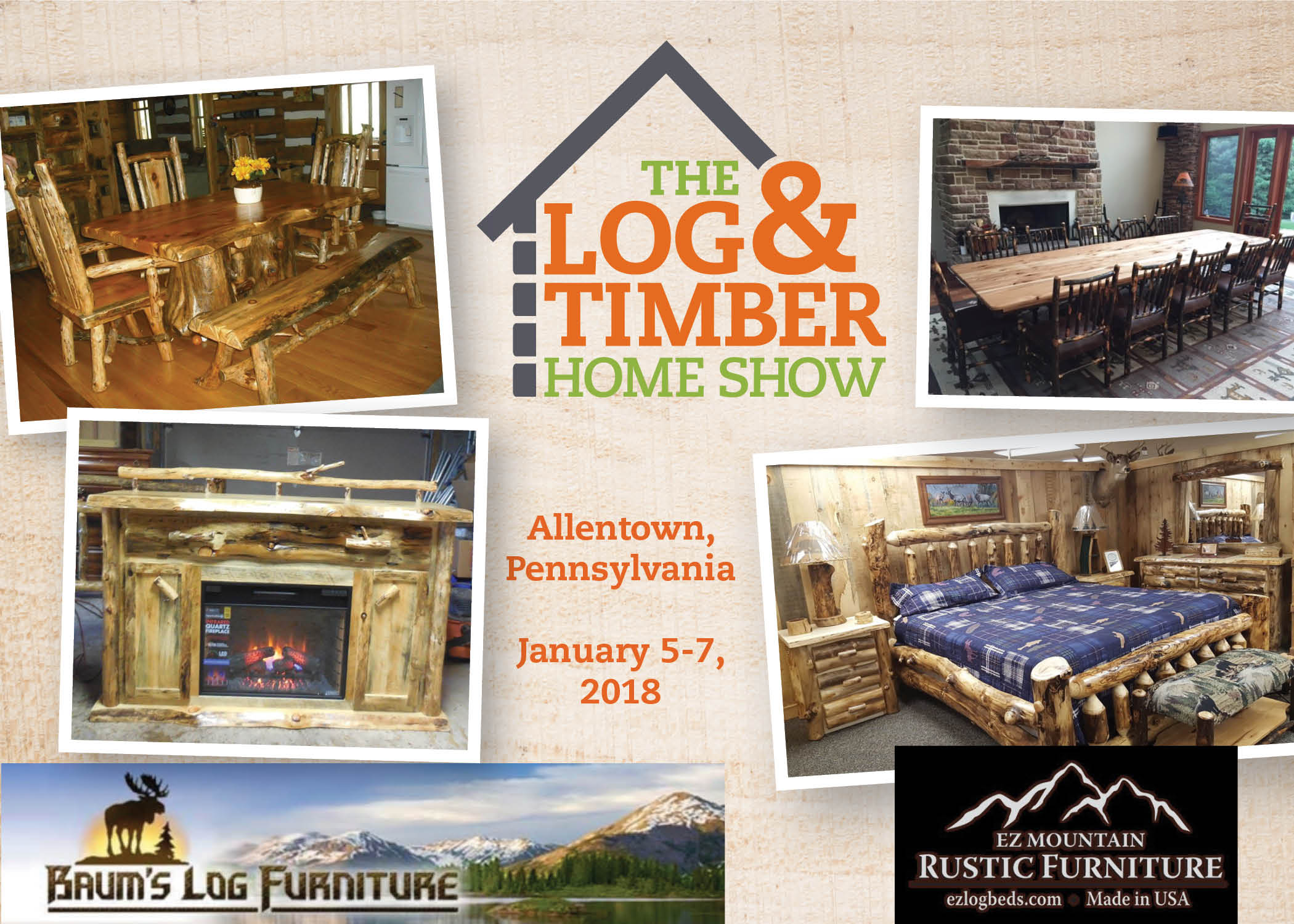 Allentown, PA Log & Timber Home Show | Furniture Corner | January 5-7, 2018