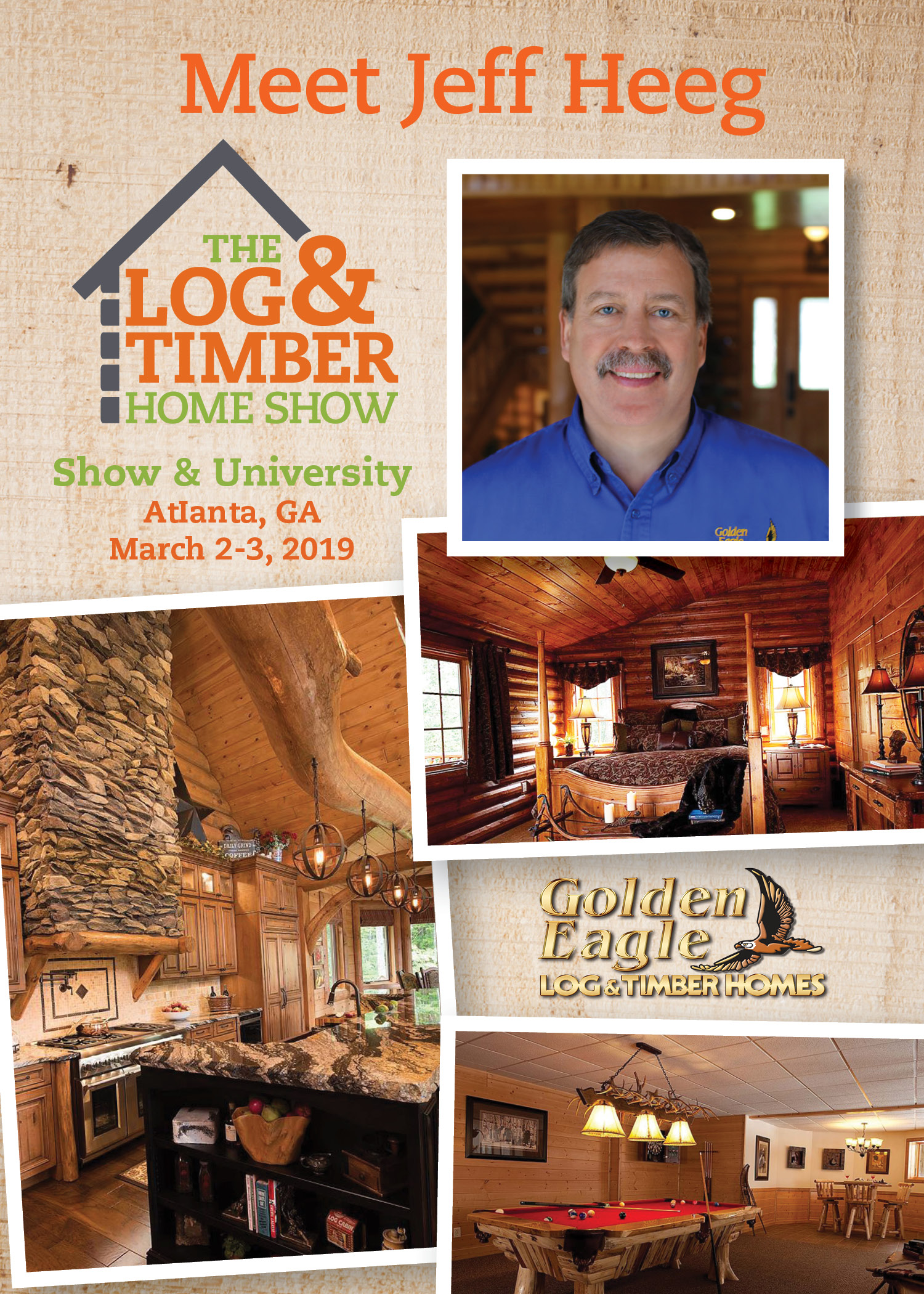 Atlanta, GA | Golden Eagle Log & Timber Home | Workshop | March 2-3, 2019 | Log & Timber Home Show