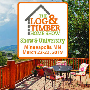 Minneapolis, MN | March 22-23, 2019 | Log Home Show | Timber Frame Builder Show | Workshops | Rustic Furniture