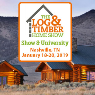 Nashville, TN | Log & Timber Home Show | January 18-20, 2019 | Log Home Builders | Timber Frame Manufacturers